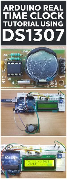 In the Arduino Real Time Clock Tutorial, we will learn about Real Time Clock (RTC) and how Arduino and Real Time Clock IC DS1307 are interfaced as a time keeping device. If you recall, we have already implemented an Arduino Alarm Clock using RTC DS1307 in an earlier project.