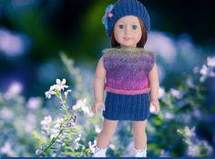 AG Doll Knitting Pattern Skirt Top & Hat Complete by LelleModa
