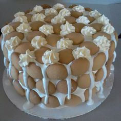 This looks like a Banana Pudding Cake Recipe that I might like :D.