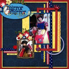 Snow White at Cinderella's Royal Table  kit & wordart - KellyBell Designs 'Fairest In The Land'  template - SuzyQ Scraps, Log Your Memory Designer Chat Template
