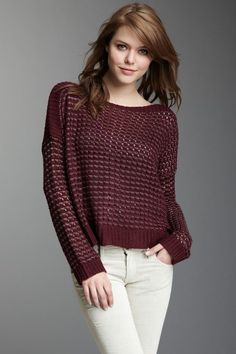 GOSSIP GIRL by Romeo & Juliet Couture Open Knit Lurex Sweater