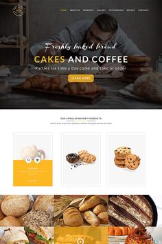 A website template (or web template) is a pre-designed webpage. Template are an effective networking tool for professionals and also serve as a promotional Template Web, Psd Templates, Website Template, Bakery Website, Restaurant Website, Pop Up Ads, Page Web, Website Design Layout, Web Layout