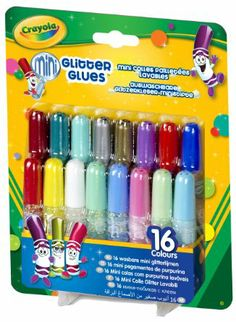 Crayola 16 Pipsqueak Glitter Glues: Amazon.co.uk: Toys & Games