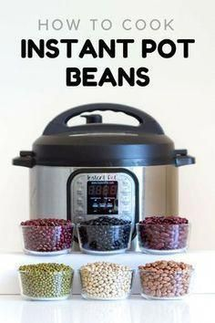 healthy cooking Here is your fail-proof guide for Instant Pot Beans. Instant Pot black beans, Instant Pot pinto beans, instant pot kidney beans, and many more, basically an encyclopedia about cooking beans in the instant pot. Power Pressure Cooker, Electric Pressure Cooker, Instant Pot Pressure Cooker, Pressure Cooker Recipes, Pressure Cooking, Slow Cooker, Pressure Cooker Black Beans, Chef Gourmet, Vegetarian