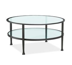 "FAMILY ROOM | Tanner Round Coffee Table | Pottery Barn | 36""D x 18""H 
