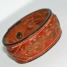 8 long... leather bracelet blank...  Nov 54 L by CoolVintage