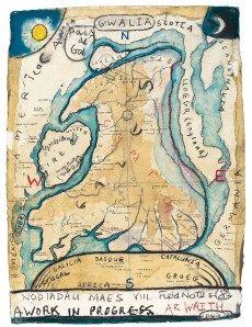Ar Waith - In Process -  Iwan Bala,  2011 #map #wales #cymru