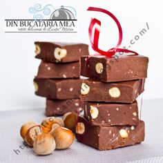 Homemade chocolate with hazelnuts Desserts Menu, Just Desserts, Delicious Desserts, Dessert Recipes, Yummy Food, My Favorite Food, Favorite Recipes, Romanian Food, Romanian Recipes