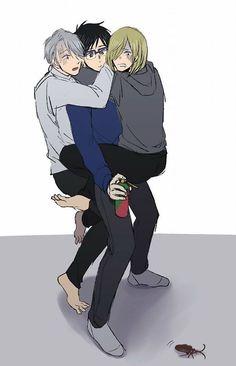 Hiro Big Hero 6, My Hero, Yuri!!! On Ice, Yuri On Ice Comic, Katsuki Yuri, Animes On, Familia Anime, Yuri Plisetsky, Cute Gay