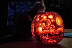 Starry Pumpkin Night by sockypoo.deviantart.com
