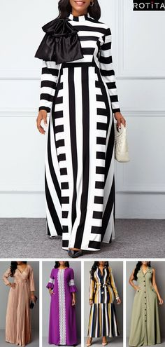 Get inspired by the best long sleeve maxi dress fashionistas and find out where to get the cutest dresses.You will find your charming at rotita. women fashion for work casual, women shoes for work Party Dress Sale, Club Party Dresses, African Fashion Dresses, Fashion Outfits, Womens Fashion, Fashion Bags, Holiday Fashion, Autumn Fashion, Latest Dress For Women