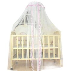 HP95(TM) Baby Mosquito Net, Baby Toddler Bed Crib Canopy Netting ,Dome Bed Canopy Netting Princess Mosquito Net for Babies (Pink)