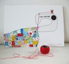 Love machine - art print by syko Kajsa, via Flickr