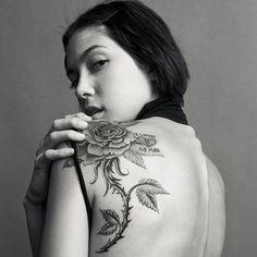 rose tattoo   beautiful rose tattoo design