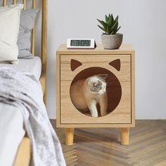 Wooden Cat House, Pet Hotel, Diy Cat Toys, Cat Perch, Cat Cave, Cat Condo, Cat Room, Pet Furniture, Animal House