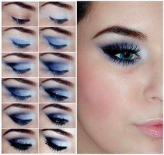 Макияж для нависших век - пошаговое фото + видео | LadyWow.ru - Красивый макияж для голубых глаз