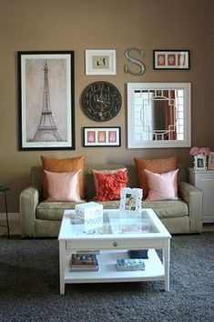 wall decoration ideas for living room - Google Search