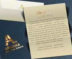 Kind words from Rama Krishna Boppana, Proud Owner of Aparna Aura - www.aparnaconstructions.com