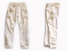 Hillary Justin knows a thing or two about vintage denim. Having co-founded the LA based vintage studio Just Say Native, sherecently launched her own collection of embroidered vintage denim under the labelBliss and Mischief. Inspired by nature (like the infamous large cactus in her backyard), the