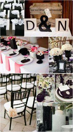 Hochzeit Tischdekoration in schwarz und weiß 2014 neue Trend