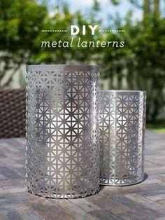 Decorative Laser Cut DIY Metal Lanterns