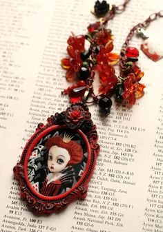 The Queen of Hearts - original cameo by Mab Graves by mab graves, via Flickr