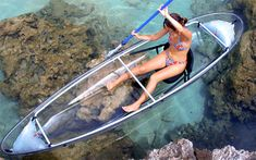 Oh, how I wish I could be cruising in one of these right now! This see-through canoe takes sightseeing to a whole new level. This design is great for a few reasons, one of which is 100% visibility. At only 40 pounds, it is also lighter than most aluminum or wood canoes. If it flips over you can even use it to shield gunfire because it is made of the same polycarbonate as bulletproof glass. And this design has been extended to a line of kayaks as well, if that is your preferred means of water…