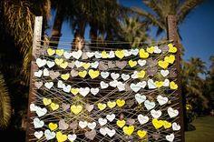 Decoração do casamento com corações. #casamento #ideias #corações
