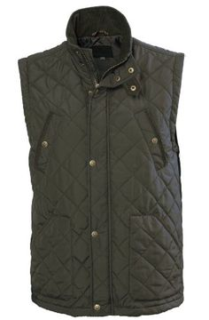 70ad198fd3bf Vedoneire Mens Quilted Vest Gilet (3033) Green Brown Padded Sleeveless  Jacket (2XL (