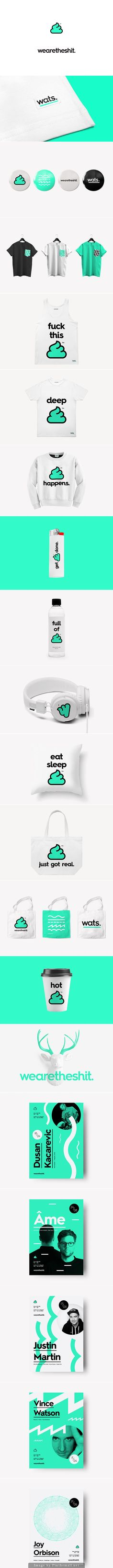 This certainly caught our attention. You gotta admire the courage and creativity of the designers. Besides, mint green is quite a nice color. Design Logo, Design Poster, Brand Identity Design, Graphic Design Branding, Ci Design, Logo Branding, Graphic Designers, Corporate Design, Corporate Identity