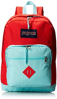 "JanSport City Scout Backpack - Coral Dusk/Aqua Dash / 18""H x 13""W x 8.5""D JanSport http://www.amazon.com/dp/B00HSMQXI6/ref=cm_sw_r_pi_dp_plLPvb11FYNFW"