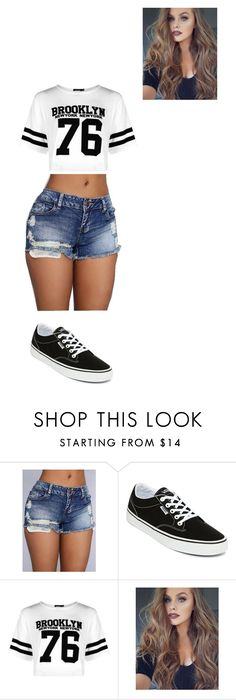 """""""besos de chocolate"""" by dayannellysgar ❤ liked on Polyvore featuring Vans and Boohoo"""