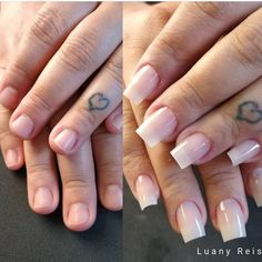 #alongamentosdeunhas #fibradevidro #unhasdegel Manicures, Nails, Beauty, Nailed It, Stretching, Gel Nail, Fiber, Natural Nails, Nail Salons