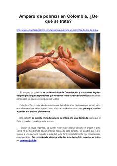 Amparo de pobreza en Colombia, ¿De qué se trata? http://www.colombialegalcorp.com/amparo-de-pobreza-en-colombia-de-que-se-...