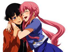 Mirai Nikki -Yuno and Yuki Render by iBreatheAgain