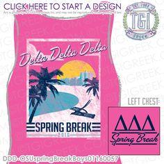 TGI Greek - Delta Delta Delta - Spring Break - Greek Apparel #tgigreek #deltadeltadelta