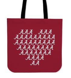Alabama Crimson Tide Heart Logo Tote Bags – Best Funny Store