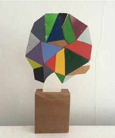 Abstract Wood Sculpture By Boston Artist Damien Hoar De Galvan