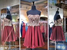 Strapless Ruby Short Homecoming Dress