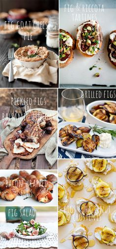 figs, fig recipes, fig goat cheese. Our figs are ripening up now! Can't wait to try some of these recipes.