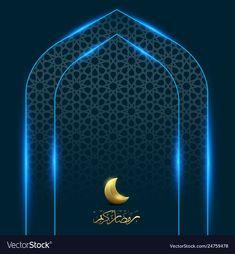 Ramadan kareem with moon gate light background vector image on VectorStock Lights Background, Art Background, Free Vector Images, Vector Free, Wallpaper Ramadhan, Gate Lights, World Peace Day, Ramadan Poster, Glitter Backdrop