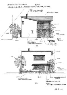 都心部の住宅街に建てる小さな家の計画。 すでに子どもは成人している団塊世代のご夫婦の終の棲家として計画。 寝室と水廻りを2階に集約し、家族室だ...