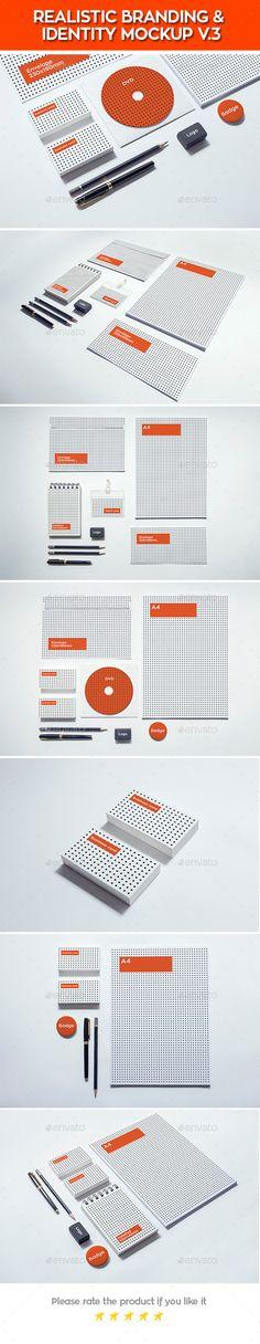 Realistic Branding & Identity Design Mockups #psd #mockup