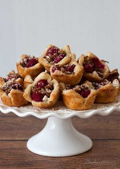 Raspberry White Chocolate Rugelach Bites Recipe from Barbara Bakes