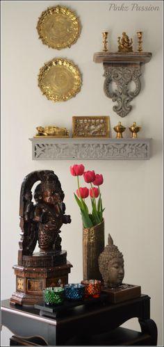 Ganesha décor, Indian décor, traditional indian home, brass décor, brass artifacts, brass collection, Buddha decor