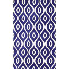nuLOOM Handmade Modern Lattice Trellis Blue Rug (5' x 8')