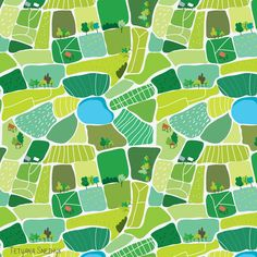 Landscape seamless pattern vector by on Magazine Illustration, Love Illustration, Landscape Illustration, Pattern Illustration, Farm Photography, Up Book, Map Design, Graphic Patterns, Parks