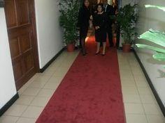 Ponen alfombra roja en la Asamblea Legislativa