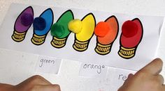 The Activity Mom: Christmas Lights Color Matching Preschool Christmas Activities, Preschool Themes, Preschool Activities, Preschool Winter, Preschool Projects, Language Activities, Winter Activities, Christmas Mom, Christmas Crafts For Kids