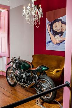 "Guzzi ""Mondego"" by Tricana Motorcycles. Moto Guzzi, Guzzi V7, Cafe Racer Magazine, Street Tracker, Motorcycle Leather, Cool Bikes, Bobber, Cars And Motorcycles, Motorbikes"